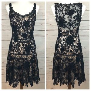 Sue Wong Beaded Lace Formal Gatsby Dress